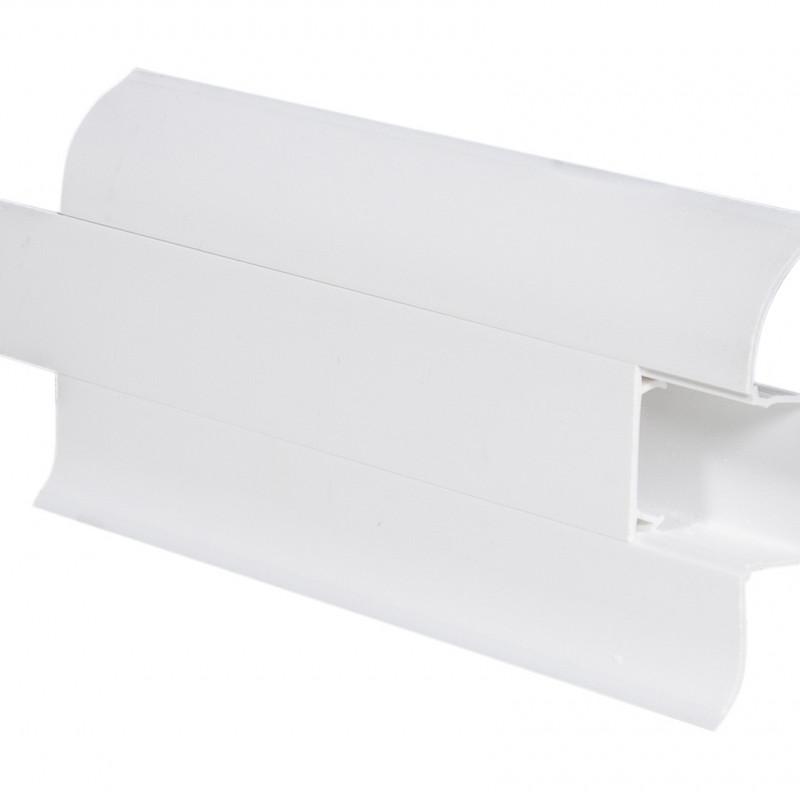 Плинтус ПВХ iDEAL, коллекция Комфорт,«Белый 55мм»